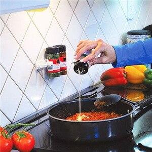 Image 3 - 4 strati di Spezie Rack Organizzatore Armadio a Muro Porta Appeso Barattoli di Spezie Clip Ganci Set Di Immagazzinaggio Del Supporto Pinza Accessori Per la Cucina