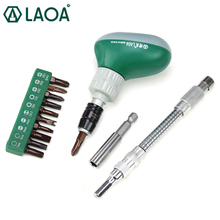 LAOA 13 in 1 Screwdriver Sets High Quality Ratchet Screwdriver short handle Screwdriver Repair Tools