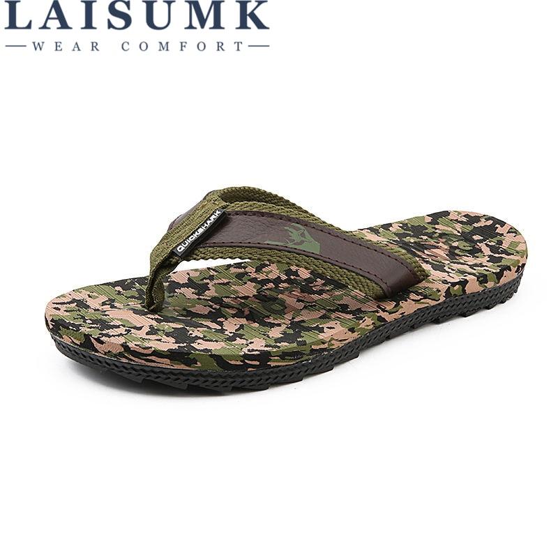 Men Slippers Wholesale Cheap Lightweight Good Quality Camouflage Flip Flops