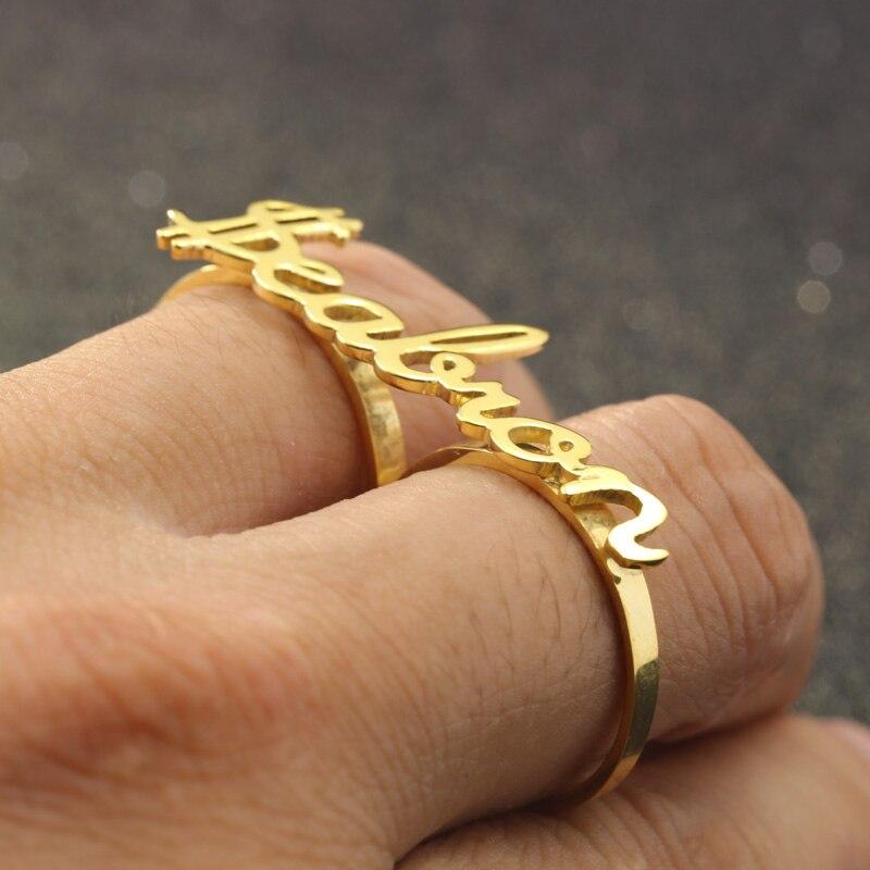 Nom personnalisé anneaux de fête Couple argent bagues de fiançailles pour les femmes Unique personnalisé cadeau d'anniversaire