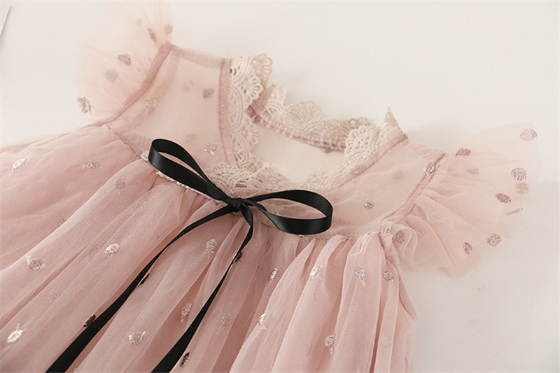 HTB1dZiKaHr1gK0jSZR0q6zP8XXa5 Girl Dress Kids Dresses For Girls Mesh Casual Lace Embroidery Princess Baby Girl Clothes Summer Sleeveless Dress Kids Clothes