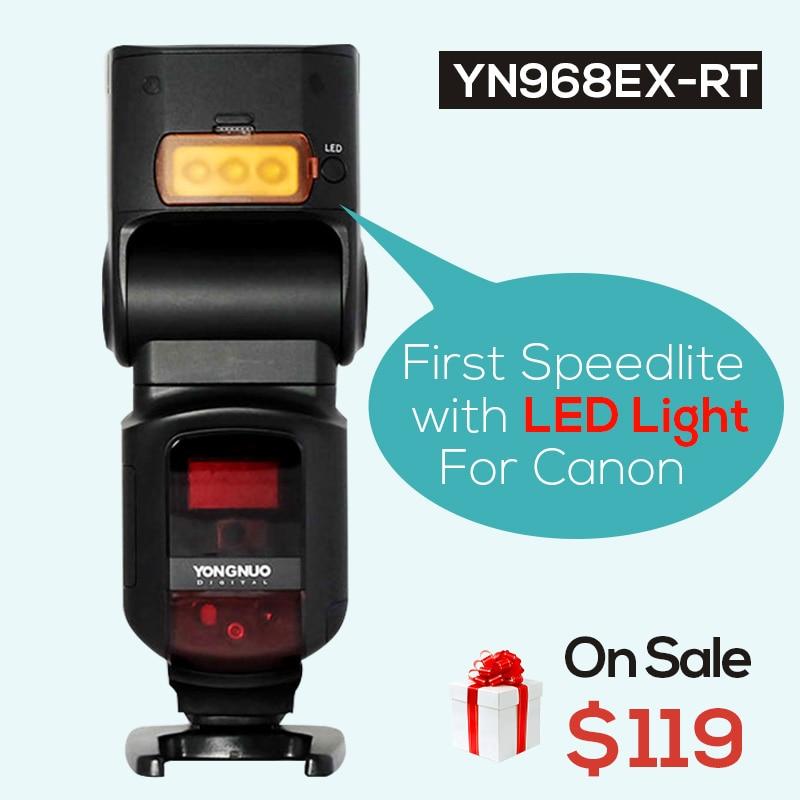 UlanziYongnuo YN968EX-RT Anti-Throw Wireless Flash Speedlite TTL HSS LED Light for Canon Camera,Support YONGNUO YN-E3-RT\YN600EX yongnuo yn e3 rt ttl radio trigger speedlite transmitter as st e3 rt for canon 600ex rt yongnuo yn600ex rt