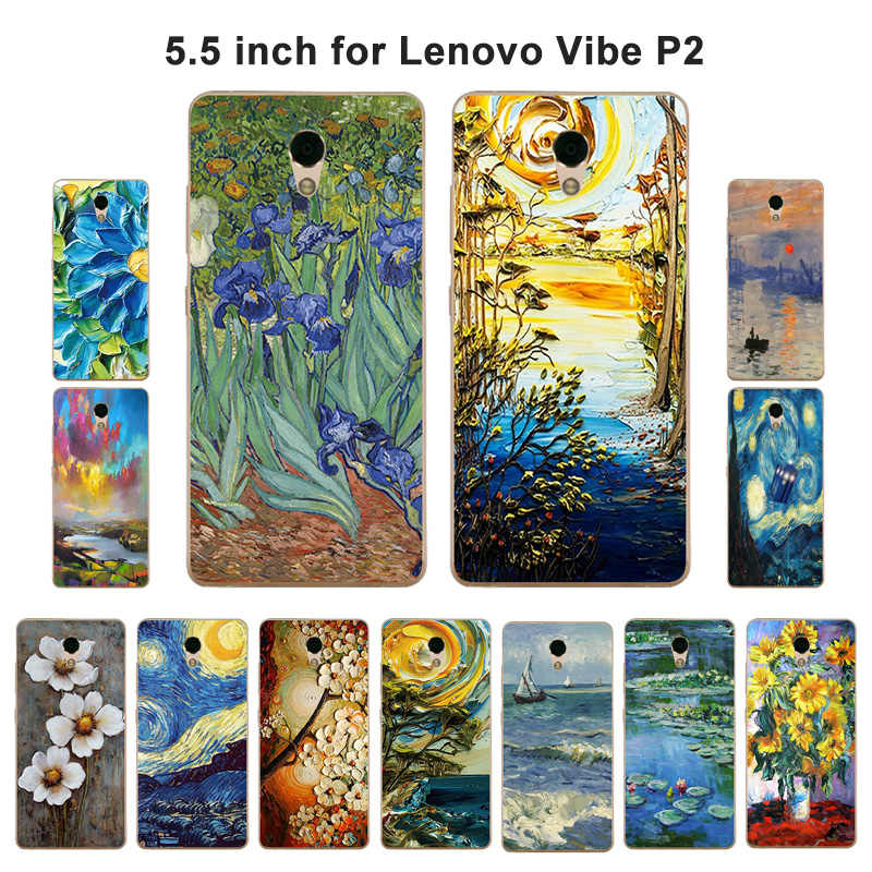 Для Lenovo Vibe p2 p2a42 телефон случае ТПУ Мягкий масляной краской для Lenovo Vibe p2/p2 p2c72 p2a42 силиконовые чехол для Lenovo p2