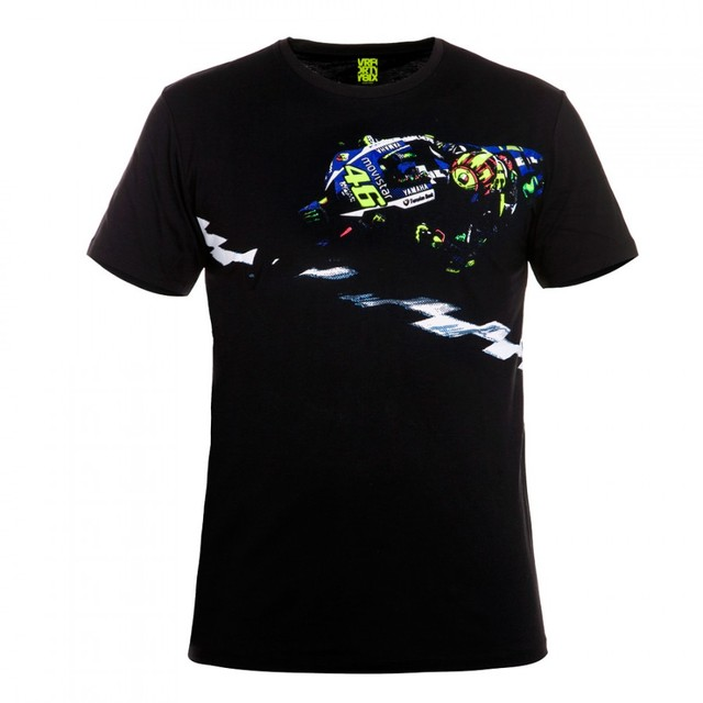 Motorcycle Motocross casual T-shirt Rossi VR46 Navy T Shirt - VRWTS