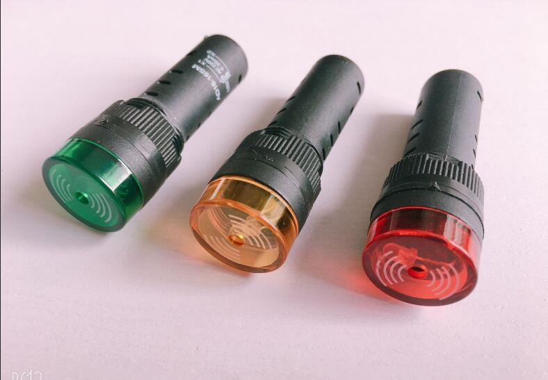 5pcs Intermittent Sound Flash Buzzer AD16-16SM Sound And Light Alarm 24V 16mm Indicator Light Signal Lamp