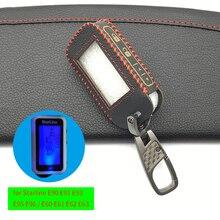 Rusça sürüm 2 way araba toptan Starline Alarm E90 E91 E60 E61 E62 Fob uzaktan anahtar anahtarı yüksek kaliteli deri anahtar kutusu