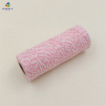 EIEYO 100 Meters Double Color Cotton Baker Twine Rope for DIY handmade Rope Accessories twisted cords for packing decoratives