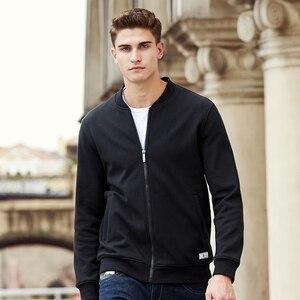 Image 2 - Pioneer Camp warme dicke fleece hoodies männer marke kleidung feste beiläufige zipper sweatshirt männlichen qualität 100% baumwolle schwarz 622215