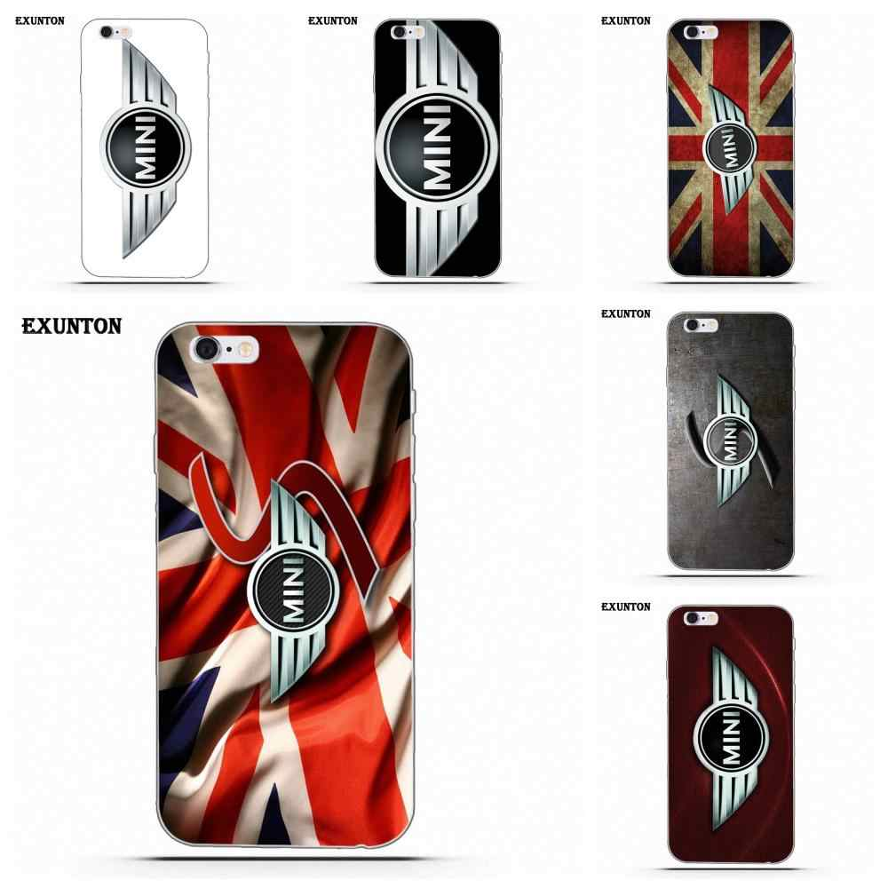 Mini Cooper Car Logo Racing Soft Protector For Apple iPhone 4 4S 5 5C SE 6 6S 7 8 Plus X