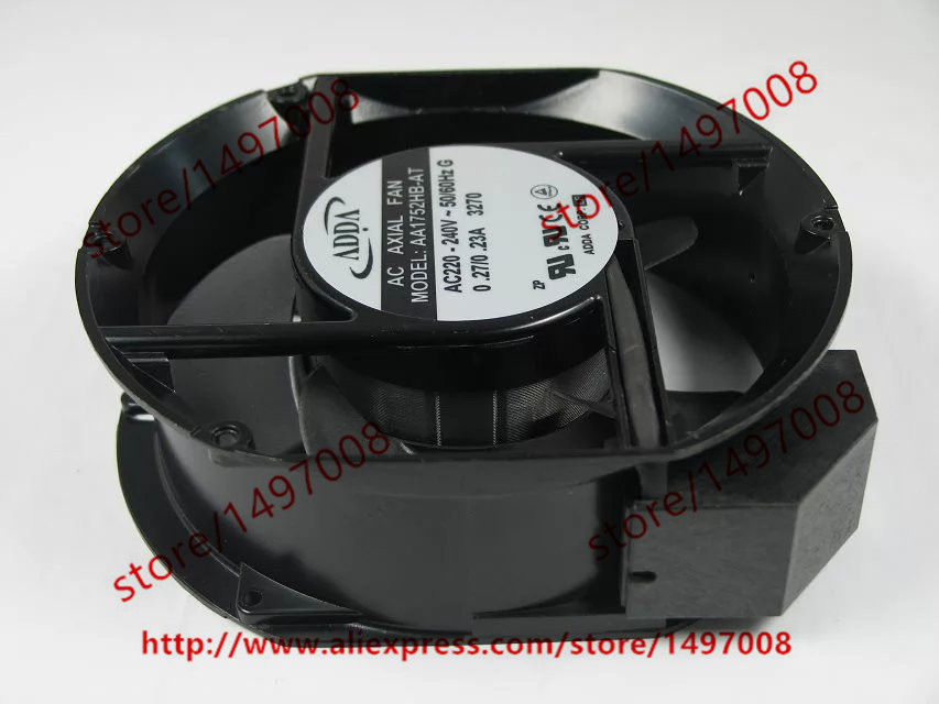 ФОТО   ADDA AA1752HB-AT AC 220-240V 0.27/0.23A 50/60Hz 2-pin 172x172x51 Server Round Cooling fan
