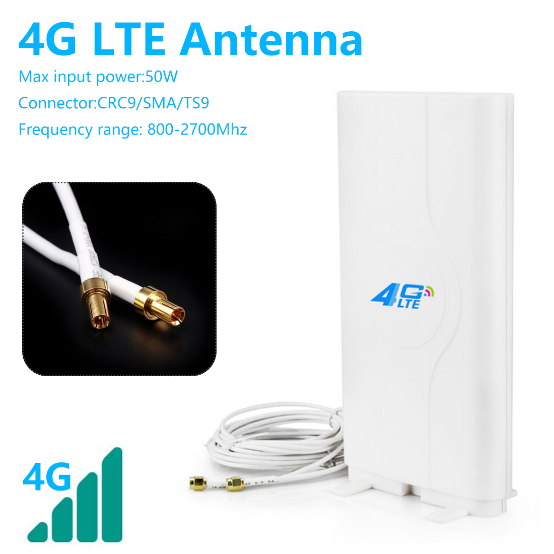 4G LTE Antenna External SMA-M Outdoor Antenna With 10m And SMA-F To CRC9/TS9/SMA Connector For 3G 4G Router Modem