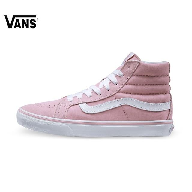 roze hoge vans