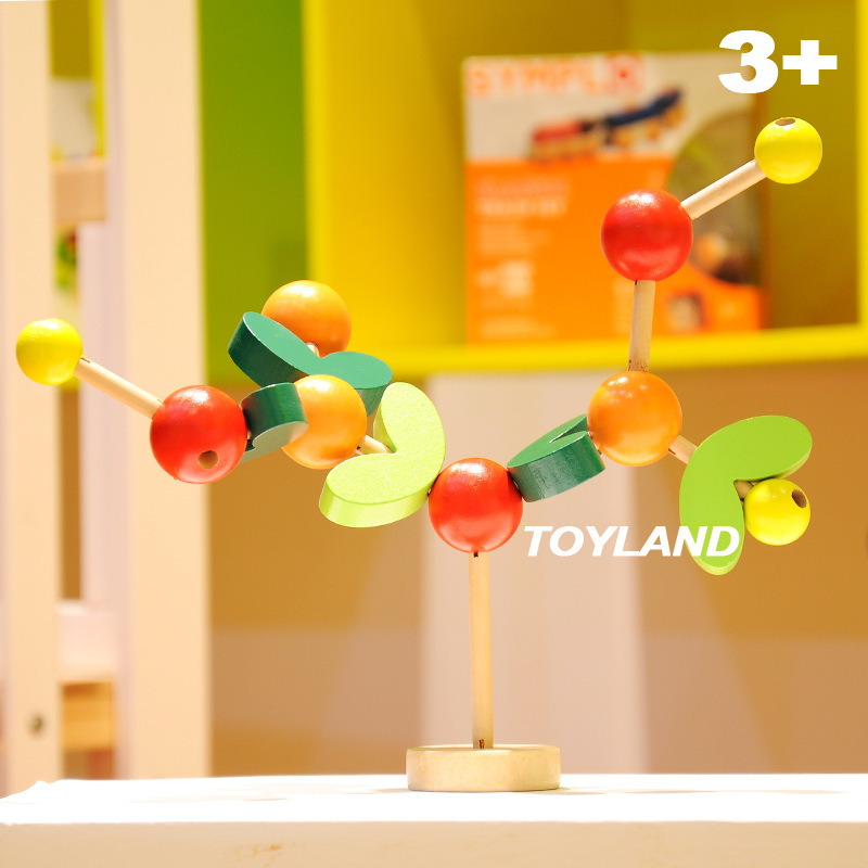 Frete grátis Árvore de Montagem Blocos brinquedos de madeira blocos de construção para Crianças Montado Modelo de árvore de árvore da sabedoria Educacional brinquedo de presente