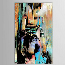 Hand-painted Abstract Graffiti Nude Oil Paintings on Canvas Large Sexy Women Wall Painting Modern Arts