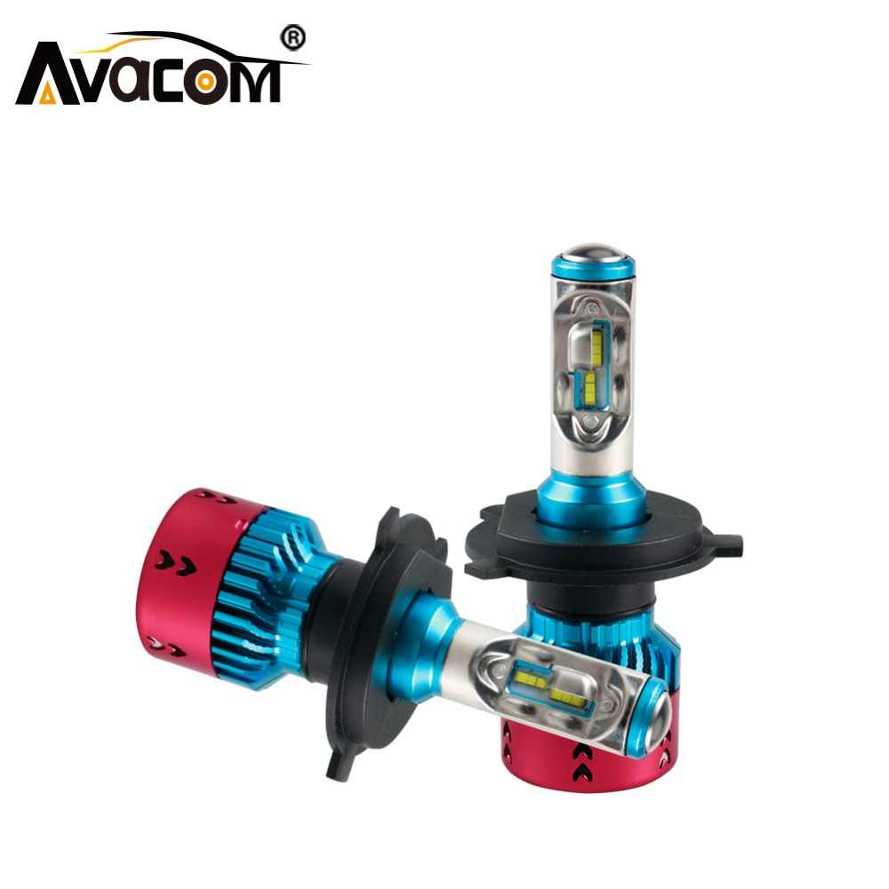 Avacom H7 H4 LED 16000lm Car Bulb 12V H15 H1 9005/HB3 9006/HB4 9012/Hir2 ZES Chip 70W 6500K Super White H11/H8/H9 Auto Headlight