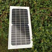 Barato china painel solar 5 w 12v18v placa fotovoltaica módulo de placa de energia solar carregador portátil panneau solairewaterproof sfm5w
