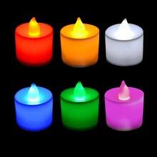 Светодиодная пластиковая свеча форма светильник беспламенный для вечерние свадебные украшения дома