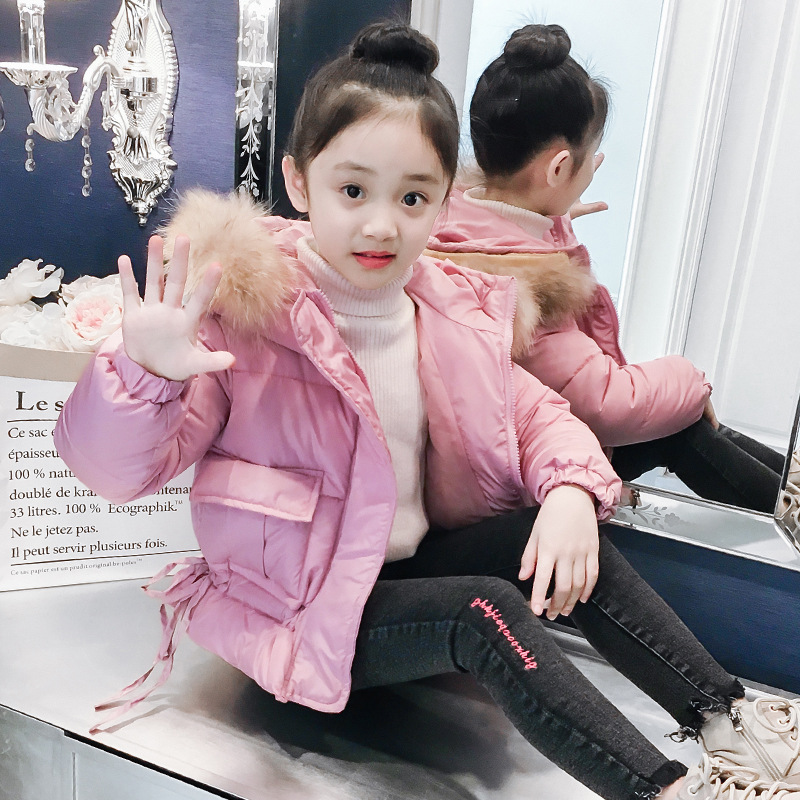 2018 Girls Winter Down Jacket Outwear Coats Parkas Childrens Warm Jacket Girls Winter Jacket Hooded Coat For Russian Winter Tops недорго, оригинальная цена