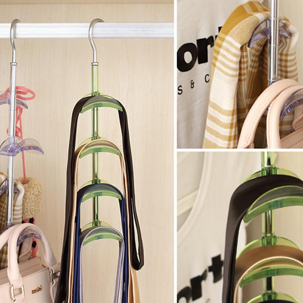 Robe Hooks Bathroom Fixtures Smart 1pc Rotatable Hooks Handbag Holder 4-hooks Purse Bag Hanger Hanging Rack Storage Organizer Shelf Hanger Hanging Rack