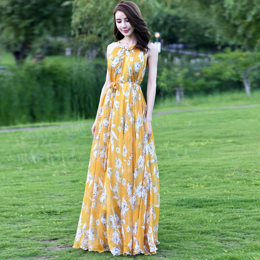 Summer Boho Floral Print Sexy Long Maxi Dress Women Beach Vacation High Waist Holiday Flowy Maternity