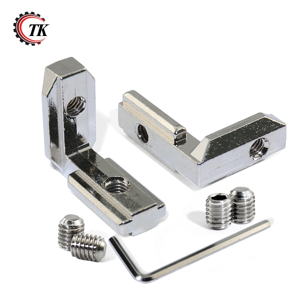 20pcs 20S L Shape Type Interior Inner Corner Connector Joint Bracket for 2020 Aluminum Profile with slot 6mm(with screw+wrench) t slot l shape type aluminum profile accessories interior corner connector joint bracket for 20 30 40 45 profile