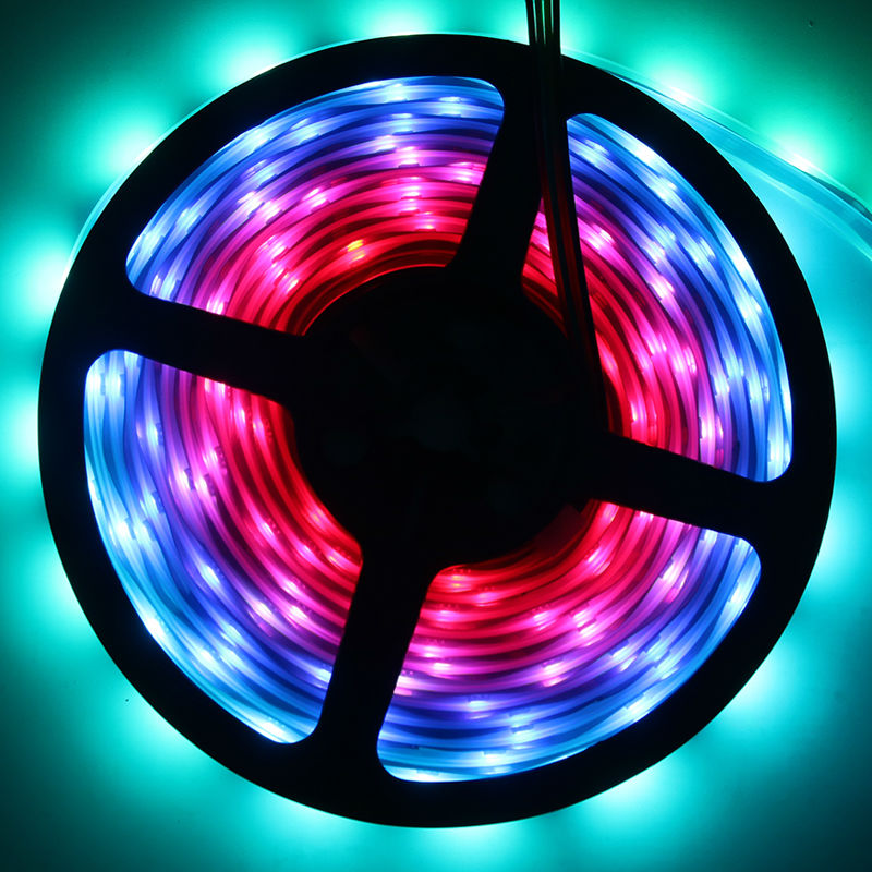 SK9822 1m/5m 5050 Full Color 30/36/60/96/144 leds/m Pixel IP30/IP65/IP67 LED RGB Strip backlight APA102 tv lights CLK DAT 5V