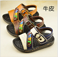 2016 boys summer shoes Genuine Leather shoes kids sandals for boys children sport running shoes Beach shoes