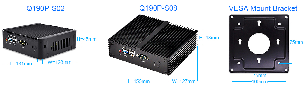 Q190P Size