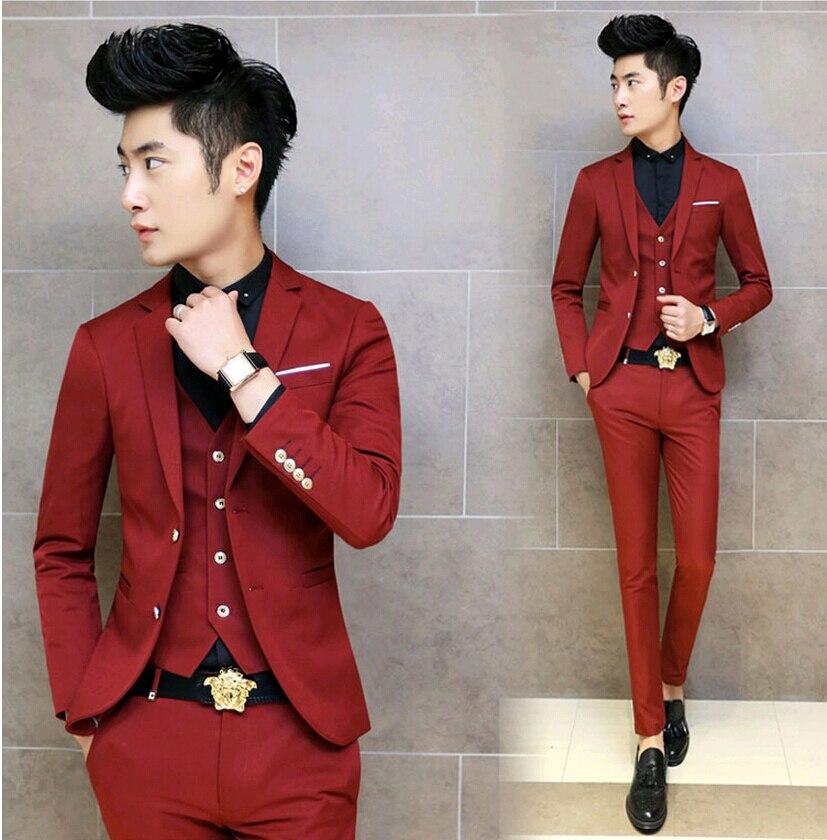 Aliexpress.com : Buy Hot 2015 Korean Tuxedo Men Suit Slim Fit Mens ...