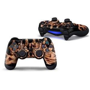 Image 2 - Pegatina personalizada de PVC, funda protectora para Sony PS4 Playstation 4 controlador Dualshock