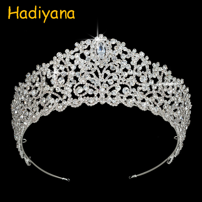 Crowns Wedding Hair Accessories Classic Design Noble Queen Grace High Quality Fashion Crystal BC3709 For Women Corona Princesa