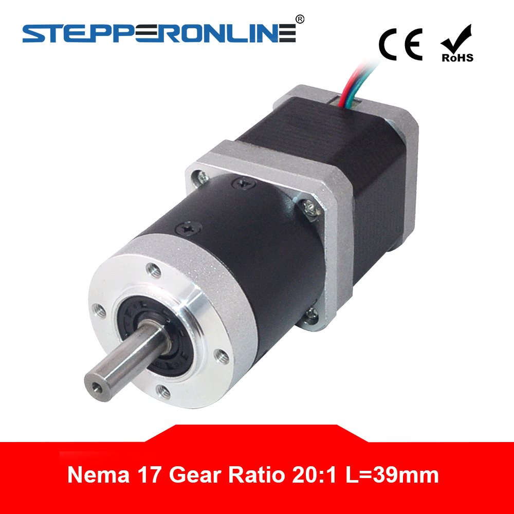 20 1 High Precision Planetary Gearbox Nema 17 Gear Stepper Motor L 48mm 1 68A for
