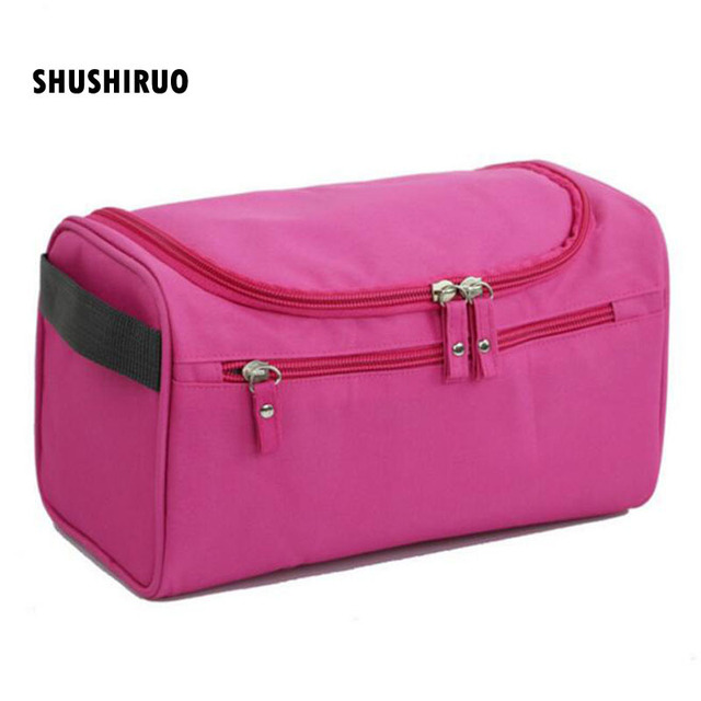 beb5a8e547c6 US $5.23 11% OFF|Aliexpress.com : Buy SHUSHIRUO Waterproof Female Hanging  Cosmetic Bag Nylon Travel Organizer Cosmetic Bag for Male Makeup Case Wash  ...