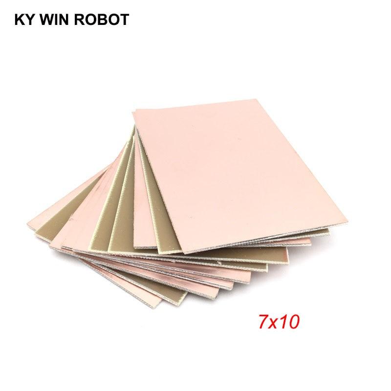 5 шт. FR4 печатная плата, односторонняя медная плакированная пластина, сделай сам, набор печатных плат, ламинат, печатная плата 7x10 см