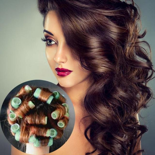 Plastic Hair Curler Roller Curl Hair Style Magic Salon Hair Curlers Hairstyle Self-Adhesive Hair Rollers Hairstyling Tools