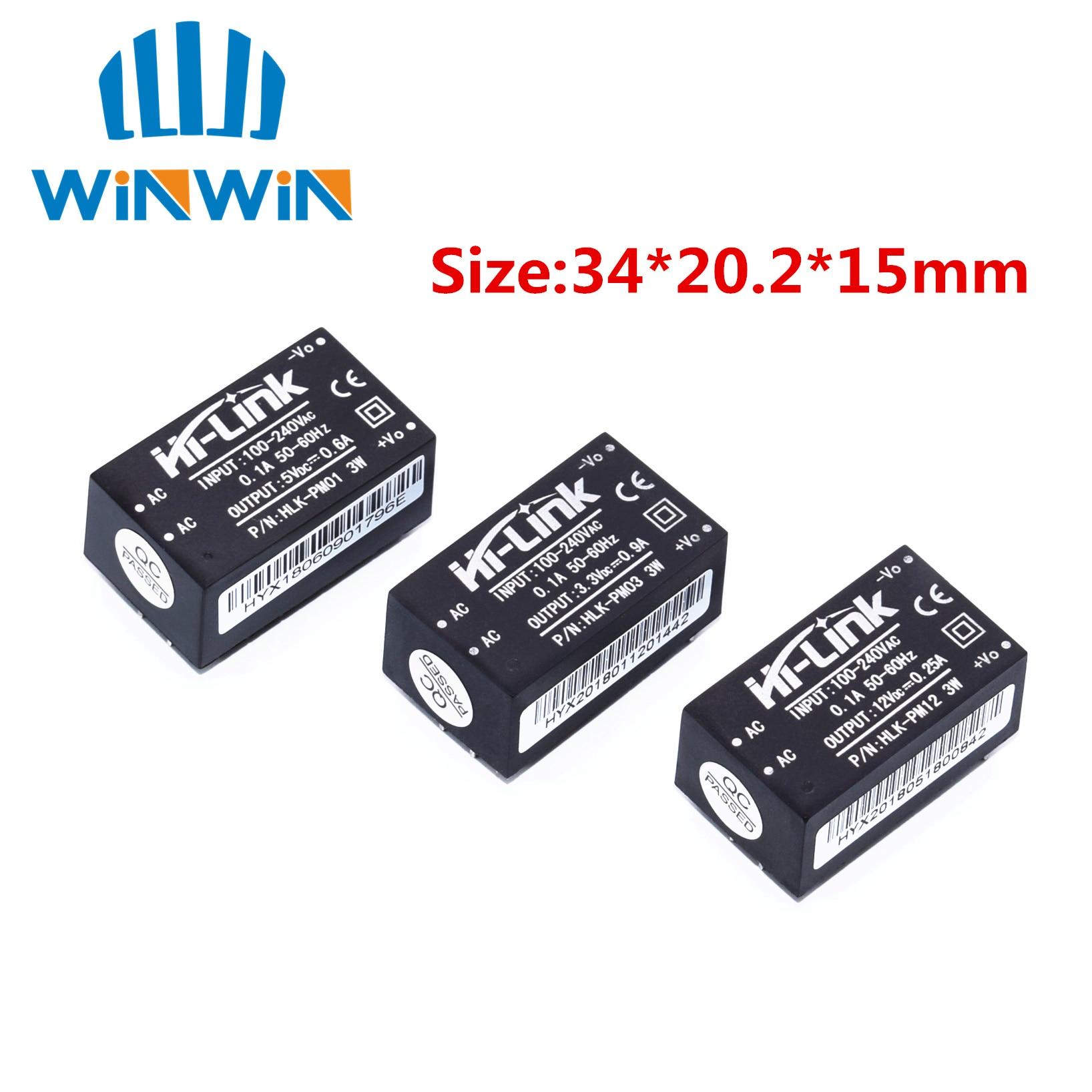 1pcs HLK-PM01 HLK-PM03 HLK-PM12 AC-DC 220V  Mini Power Supply Module,intelligent Household Switch Power Supply Module