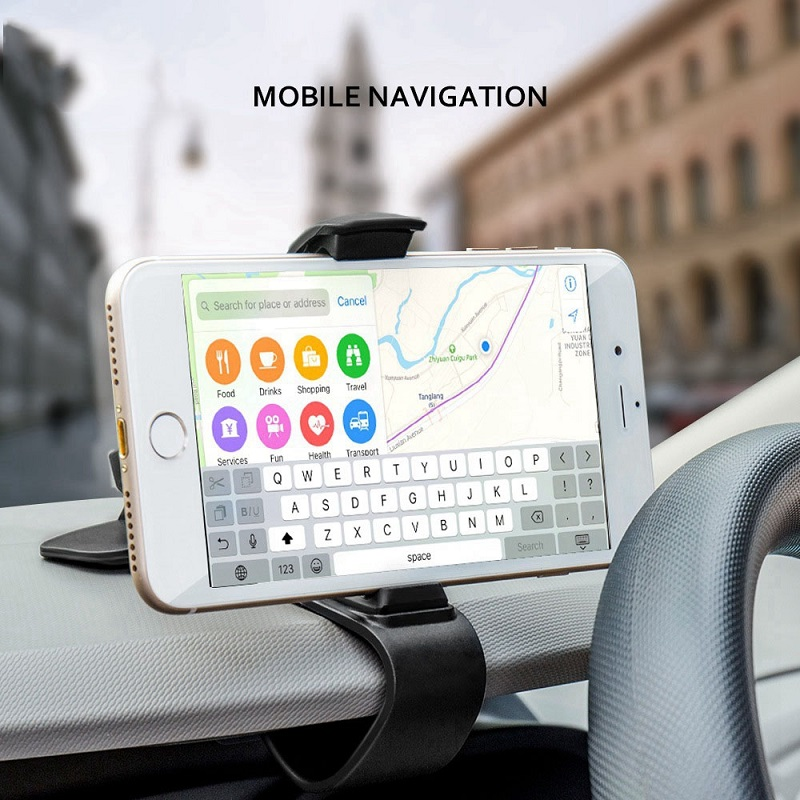 Car Dashboard Holder Mount Clip Clamp Adjustable Cell Phone Stand GPS Display Bracket Classic Black Car Accessories in Universal Car Bracket from Automobiles Motorcycles