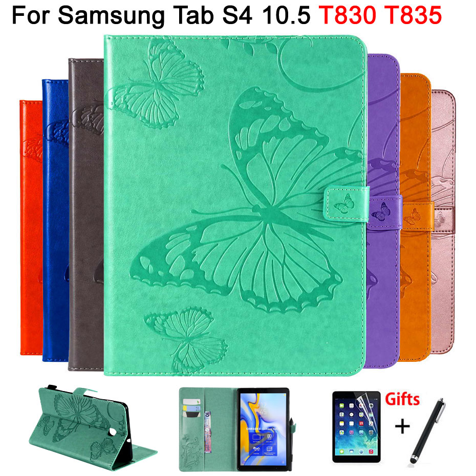 3D Butterfly Flip Case For Samsung Galaxy Tab S4 10.5 T830 T835 SM-T830 SM-T835 10.5