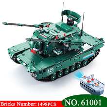61001 1498Pcs Military Weapon Series The M1A2 font b RC b font Tank Model Building Blocks