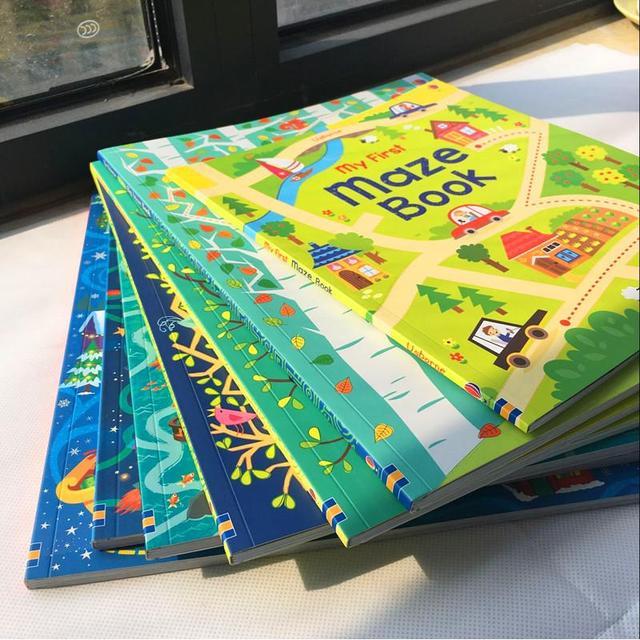 64 Pages Children Cartoon English Maze Books Kids Baby 30 5 25cm Big