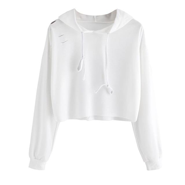 86b5d3666367a Hip Hop Jumper Tops Women Autumn Hoodies Sweatshirt Girls Ladies Kawaii  Korean Cropped Hoodie Pullover Womens White Moletom  LH