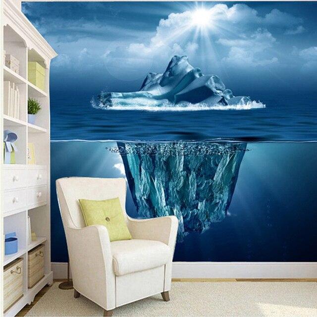 DIY Beautiful Underwater World Floeberg Perspective 3d Wallpaper Living Room