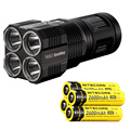 NITECORE TM26GT Tiny Monster 704M Beam Distance OLED Display 3500Lm LED Searchlight Flashlight+4*2600mAh batteries+Free shipping