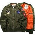 6XL casaco dos homens novos jaqueta ma-1 jaqueta de vôo Do Air Force One homens jaqueta espessamento fertilizantes comércio exterior rei DA NASA lala ikai jaquetas
