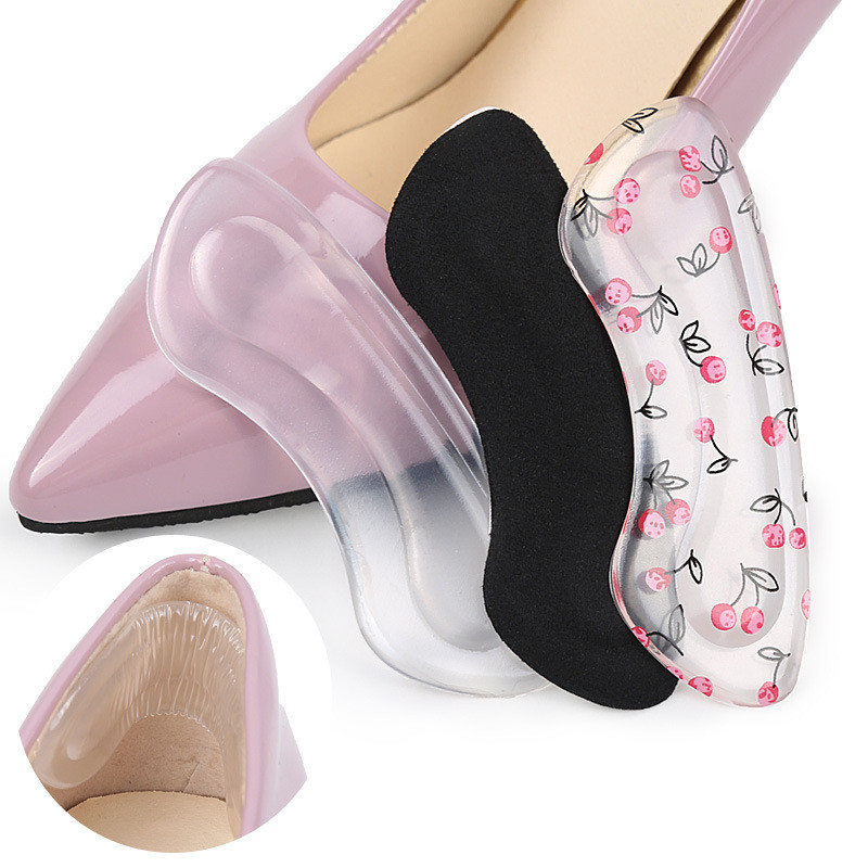 Silicone Gel Women Heel Inserts  Protector Foot Feet Care Shoe Insert Pad Insole Cushion