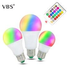 RGB Led Lamp 5W 10W 15W Led Bulbs E27 220V High Quality RGBW RGBWW Spot Light Remote Control Ampolleta Led RGB With Memory