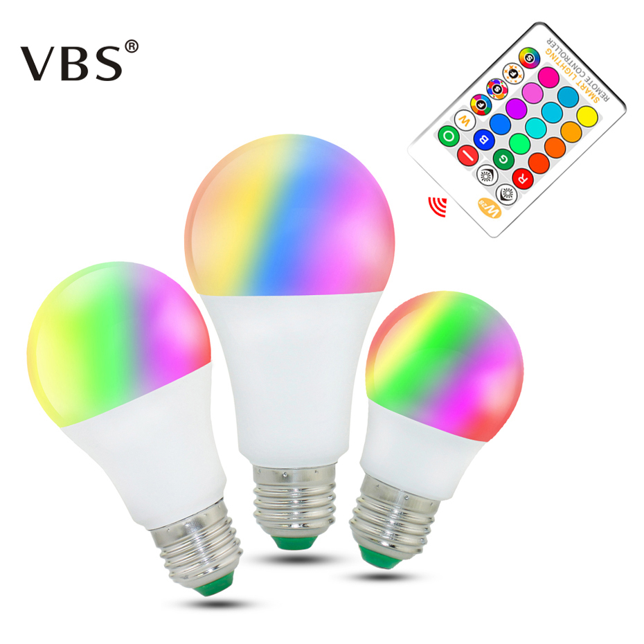 RGB Led Lamp 5W 10W 15W led bulb E27 dimmable 220V RGBW RGBWW Spot Light Remote Control Ampolleta Led RGB With Memory zigbee bridge led rgbw 5w gu10 spotlight color changing zigbee zll led bulb ac100 240v led app controller dimmable smart led