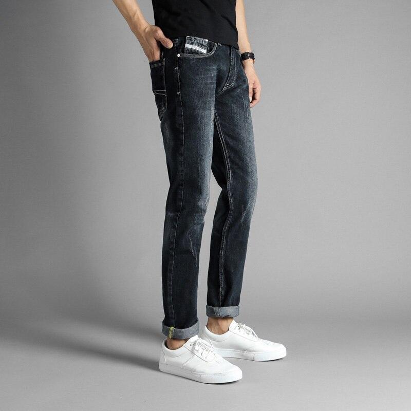 2017 Newly Autumn Winter Fashion Mens Jeans Black Color Denim Biker Jeans Men Slim Fit Pants Balplein Brand Men Ripped Jeans 2017 fashion patch jeans men slim straight denim jeans ripped trousers new famous brand biker jeans logo mens zipper jeans 604