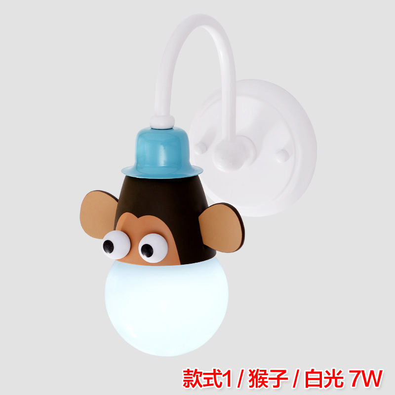 Modern Led Cartoon Children Room Bedroom Wall light Bedside Lamp Wall Lamp Creative Animation Aisle Lamps E27 2016 new mediterranean lighthouse led lamp children s room bedroom lamps creative bedside table lamp