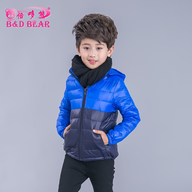 Girl Winter Jacket Child Girls Thin Down Coat Parkas Solid Hooded Cotton Kids Warm Down Jackets Boy Kids Wear Outerwear Clothes